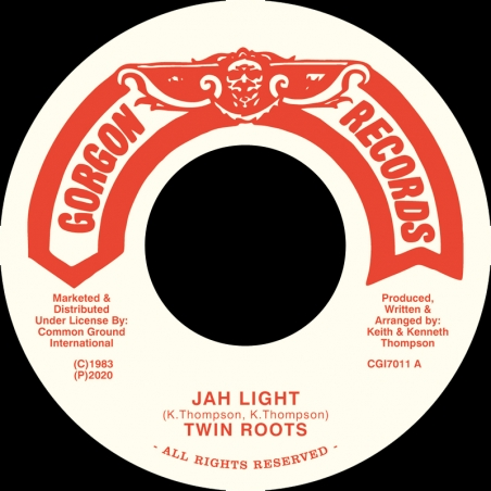 """(7"""") TWIN ROOTS - JAH LIGHT"""